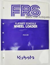 KUBOTA R510(B)  FRS Flat-Rate Schedule for WHEEL LOADER -Printed in JAPAN