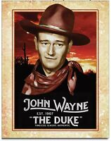 John Wayne Metal Tin Sign The Duke Movie Cowboy Icon Home Wall Decor #2230
