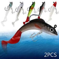 TH_ Minnow Night Plastic Fishing Lure Crank Bait Hooks Bass Fish Crankbait Tackl