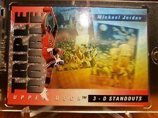 MICHAEL JORDAN 1993 94 UPPER DECK TRIPLE DOUBLE HOLO INSERT #2 ERROR RARE BULLS