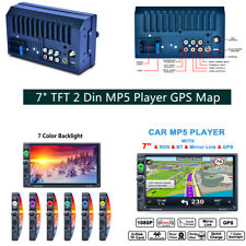 7157G GPS Navigation Double Din Car Stereo MP5 Player Bluetooth +8G Map Card