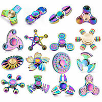 Rainbow Fidget Spinners EDC Bearing Autism Focus Stress Kids Children's Toy UK