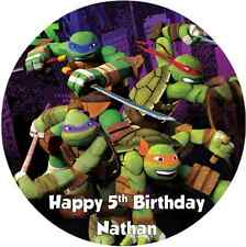 Personalised 19cm Teenage Mutant Ninja Turtles TMNT Edible Wafer Cake Topper