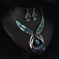 Fashion Crystal Choker Chunky Jewelry Statement Chain Pendant Bib Necklace