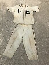 Vintage Antique School Baseball Uniform-Gas Oil Advertising OWL SERVICE New York