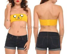 New Adventure Time with Finn & Jake: Jake Face Bandeau Bra Top Juniors Size XL