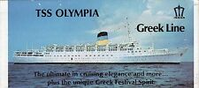 Greek Line OLYMPIA & QUEEN ANNA MARIA Plans w/ Pics -  NAUTIQUES MAILS WORLDWIDE