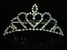 Wedding Bridal Prom Pageant Crown Rhinestone Design Tiara Hair Comb WT1