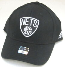 NBA Brooklyn Nets Black Structured Fitted Hat By adidas, Size L/XL