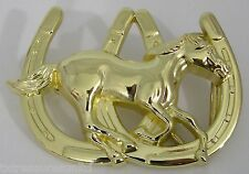 BELT BUCKLES western casual dress rodeo accessories HORSE HORSESHOE buckle NWOT!