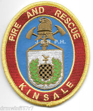 "Kinsale  Fire & Rescue, Ireland - new style  (3"" x 3.5"" size) fire patch"