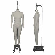 Full Body Professional Sewing Form Size 10 Collapsible Shoulders Removable Arms