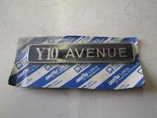 Targhetta fregio posteriore Autobianchi Y10 Avenue originale.  [2301.16]