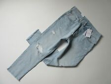 NWT Levi's 501 Skinny in Sound Visions Destroyed Selvedge Boyfriend Jeans 24