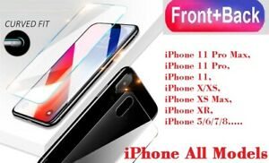 Front+Back Tempered Glass Screen Protector For Apple iPhone 7 8+ X 11 12 Pro MAX