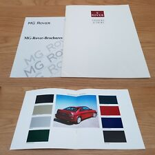 Rover Colours & Trims Metro Flame Red 200 Coupe Tahiti Blue Recaro Brochure