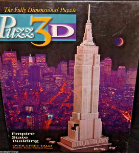 Puzz 3D Puzzle EMPIRE STATE BUILDING 3 ft NEW Sealed Vtg 1994