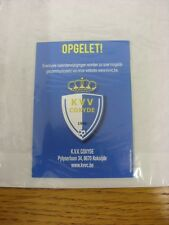 2015/2016 KVV Coxyde: Official Fixture Card. Thanks for viewing our item, if thi