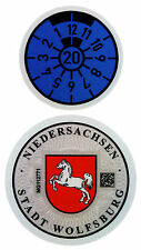 Wolfsburg 2020 German License Plate Registration Seal for VW by Z Plates