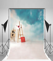Easel Wood Stand Vinyl Studio Photo Backdrops 5x7ft Photography Background Props