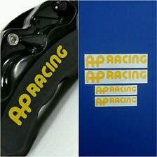 Set of 4 AP RACING Brake Caliper HIGH TEMP Decal Sticker (Yellow)