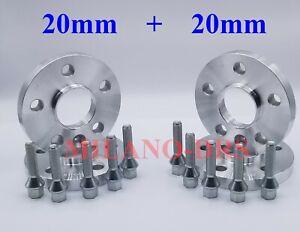 4 DISTANZIALI RUOTA 20+20mm AUDI Q2 + BULLONI