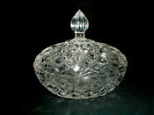 Zajecar Lead Crystal Diamond Covered Candy Dish Oval Trinket Box