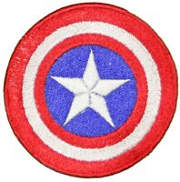 Captain America Shield Superhero Embroidered Iron or sew on Patch/Applique 3""