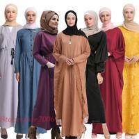 Muslim Women Robe Kaftan Islamic Party Dress Dubai Ramadan Abaya Jilbab Gown New