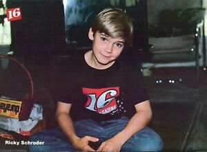 RICKY SCHRODER PINUP CLIPPING FROM A MAGAZINE 80'S YOUNG CUTE 16 MAGAZINE