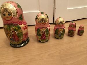 russian dolls matryoshka doll Set Of 5