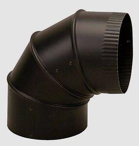 "New IMPERIAL BM0016 8"" Dia. STOVE PIPE ELBOW 90° ADJUSTABLE Black 24 Gauge Steel"