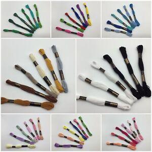 6 Skeins Trebla Embroidery Cross Stitch Thread '6 x 8 Metre Skeins' 100% Cotton