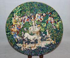 1973 Haviland Limoges La Chasse A La Licorne Hunt of the Unicorn Plate No. 3