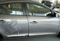 Renault MEGANE III HB 2010Up Chrome Side Door Streamer 4Pcs 4Door S.STEEL
