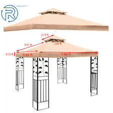 New 9.84Ft Pavilion Replacement Canopy Top Patio Gazebo Tent Sunshade Top Cover