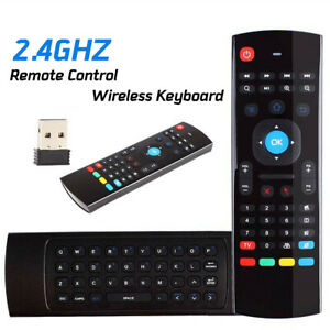 Wireless 2.4G Remote Control Air Mouse Keyboard IR Learn For PC Android TV Box