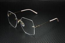 GUCCI GG0683O 004 Rectangular Squared Gold Pink 55 mm Women's Eyeglasses