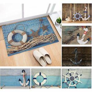 Meer Maritim Anker Wohnzimmer Teppich Fußmatte Boden Fußabtreter Türmatte