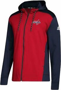 NWT adidas Men's Washington Capitals Full Zip Hoodie-Sz S, M, XL