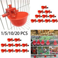 20X Automatic Drinker Bird Coop Poultry Chicken Fowl Drinker Water Drinking Cup