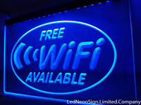 Free Wi-Fi Internet Access Cafe Shop Neon Led Signs 3D Sign On/Off Switch