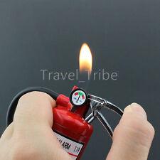Novelty Fire Extinguisher Refillable Butane Gas Cigarette Lighter With LED Light
