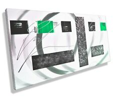 Leinwandbild ORIGINAL Abstrakt HANDGEMALT modern Bild  XXL Bilder Acrylbild Grün