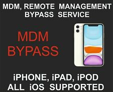 MDM, Remote Management, Bypass, Remove, unlock, All iOS Supported, iPhone, iPad