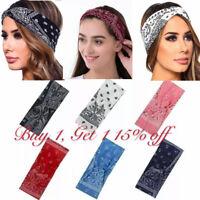 Bandana Headband Elastic Silky Hairband Women Fashion Yoga Sports Soft Head Wrap
