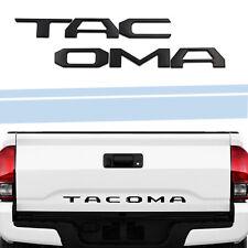 3D Raised Tailgate Insert Letters Emblem Fit 2014-2019 Toyota Tacoma-Matte Black (Fits: Toyota)