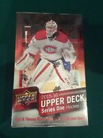 2015/16 UD Series 1 Hockey Factory Sealed 24 Pack HOBBY Box-Jersey+6 Young Guns