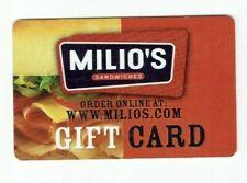 Milio's Gift Card - Sandwich Restaurant - Food - 2006 -No Value - I Combine Ship