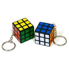Mini Size Rubix Cube Puzzle Mind Game Toy Classic Cube Gift 3cm x 3cm Key Ring